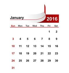 Simple calendar 2016 year january month vector
