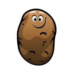 Smiling cartoon farm potato vegetable vector
