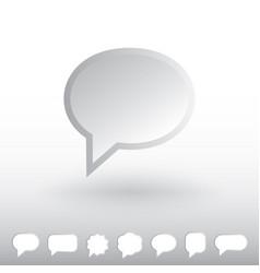 speech bubble iconubbles vector image