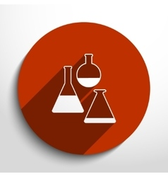 Test tubes web icon vector