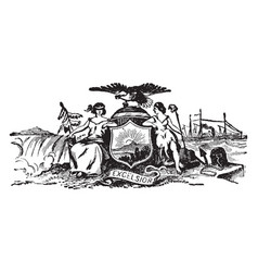 The seal of colonial new york vintage vector