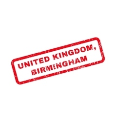 United kingdom birmingham rubber stamp vector