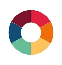 Infographic round multicolored data icon vector