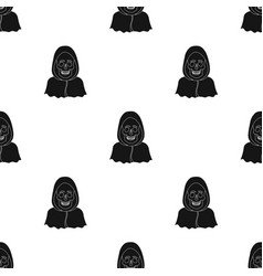 death icon in black style isolated on white vector image