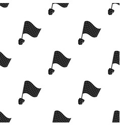 A racing starting and finishing fluttering flag vector