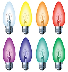 Color light bulb vector