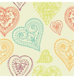 Hearts seamless pattern vector