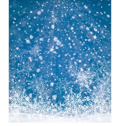 Winter background blue vector