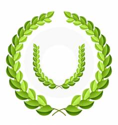 green laurel wreath vector image