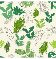 Herbal plant patter vector