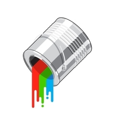Paint can flow vector