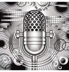 Music with microphone vector