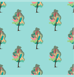 Abstract art tree seamless pattern vector