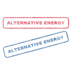 Alternative energy textile stamps vector