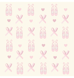 ballerina shoes background vector image vector image