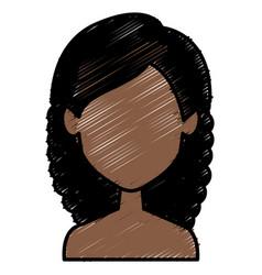 Beautiful african woman avatar character vector