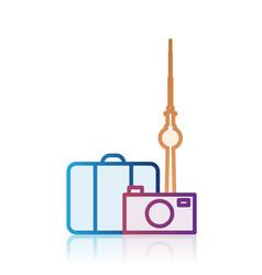 Berlin tourism destination icon vector