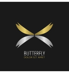 Butterfly logo symbol vector image