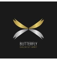 Butterfly logo symbol vector