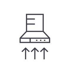 cooker hood linear icon sign symbol on vector image