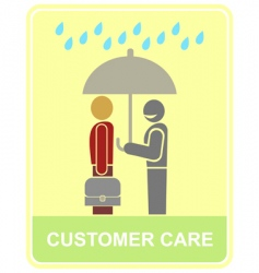 customer care vector image vector image