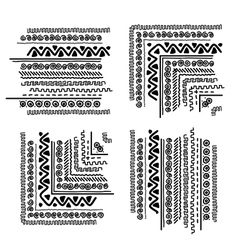 Design elements with ethnic handmade ornament vector image vector image