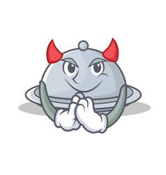Devil tray character cartoon style vector