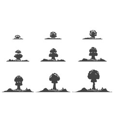 Explosion silhouettes animation collection vector