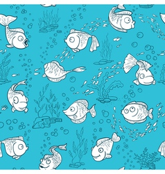 Fish seamless vector image