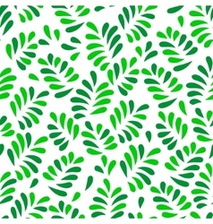 Green spring leaves seamless pattern on white vector image