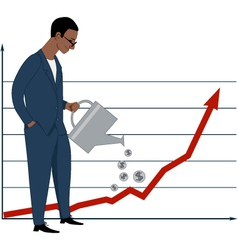 Investing in stock market vector image vector image