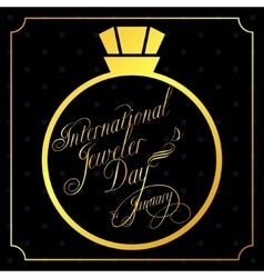 Jeweler day card vector