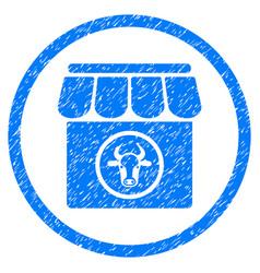 Livestock farm rounded grainy icon vector
