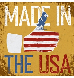 Made in the usa vintage poster retro thum vector