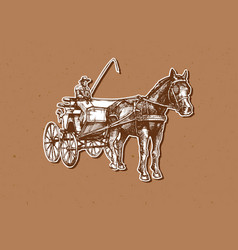 Open carriage vector