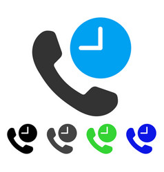 Phone time flat icon vector