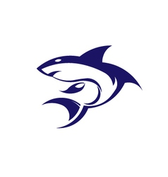 Shark logo vector image vector image