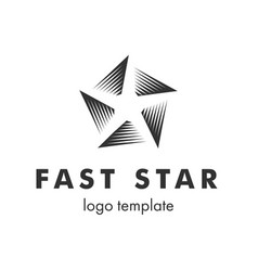 stylized linear shape star logo design template vector image vector image