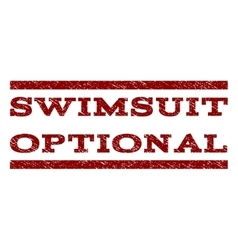 Swimsuit optional watermark stamp vector