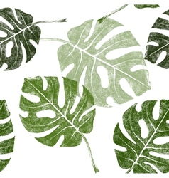tropical leaves seamless vector image vector image