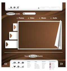 website design vector image