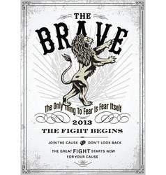 VIntage lion poster vector image