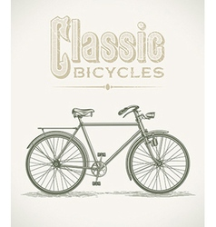 Classic gentlemans bicycle vector