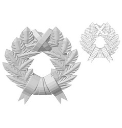 Carved wreath vector