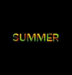 3d gradient summer season sign vector