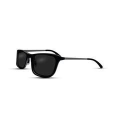 Realistic black sunglasses vector