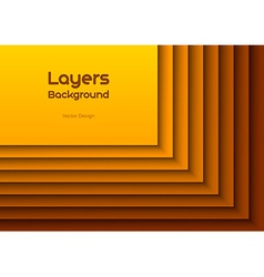 Orange layeres vector