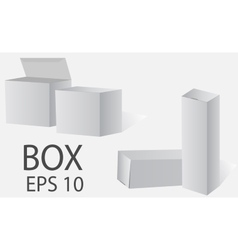 Box white packing on a light background vector