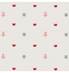 decorated cupcakes vector image