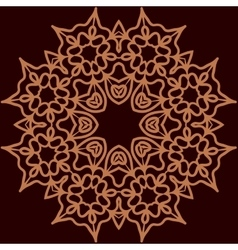 Ornament rosette symmetrical tempalte for adult vector